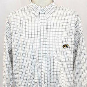 Mizzou Tigers Button Down Dress Shirt Mens Size XL
